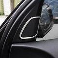 Falante Estéreo Porta Interior Em Aço inoxidável guarnição da Tampa do Círculo De Áudio Anel de chifre Decoração Tira Carro Stying para BMW X5 E70 09-14