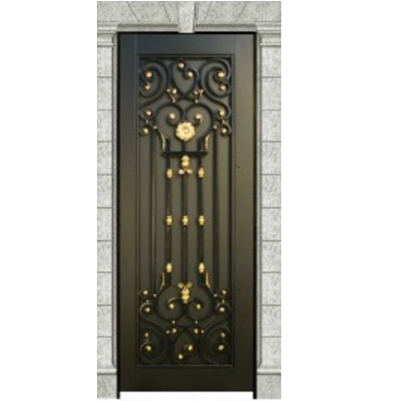 Hot Sale Exterior Black Metal French Doors Metal Front Doors