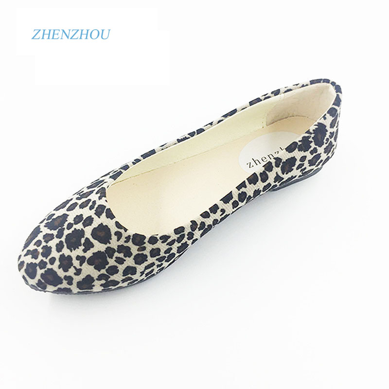 2016 maternity shoes spring new boat shoes hit Europe and the United States hit leopard women's shoes flat heel size anlala europe and the united states ms leopard triangle one piece swimsuit