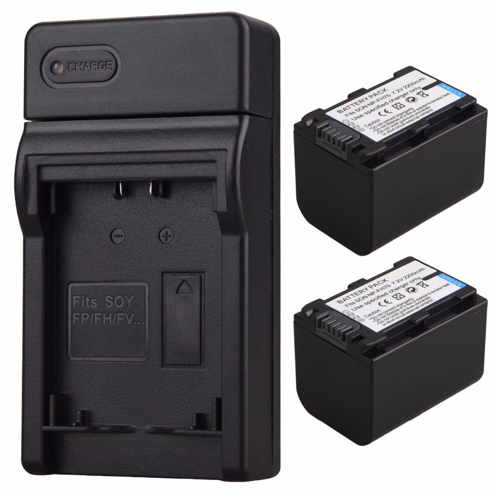 2x 2200mAh NP-FH70 Battery+USB Charger for Sony NP-FV50 NP-FV100 NP-FH30 NP-FH40 NP-FH60 NP-FH50 NP-FH70 HDR-SR/XR HDR-CX/UX/HC