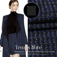 Limited Hot Sale Fashion Weaving Tweed The High Content Of Wool Fabric For Coat Dress Tissu