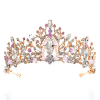 Pageant Crown Wedding Hair Pins Jewelry Accessories Bling Tiaras Crowns for Women Bridal Headpiece Wedding