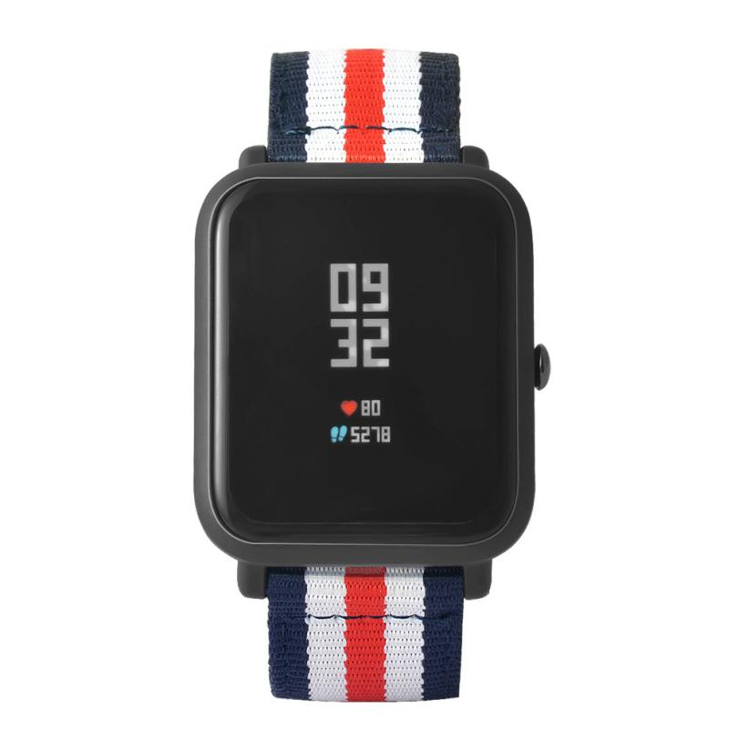New Canvas Watch Band Strap With Buckle Connector For Xiaomi Amazfit Sport Smartband 18Apr23 Dropshipping