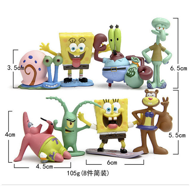 10 Styles Kawaii Patrick Star SpongeBob Model Hand To Do Action Figure Toys Doll Sponge Bob