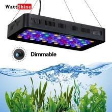 Рыба Морской аквариум лампа светодиодная лампа для аквариума с регулируемой яркостью Светодиодная лампа для выращивания светильник 165W 180W морской аквариум Коралловый риф ручное управление