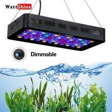 Рыба Морская аквариум лампе привело аквариум с регулируемой яркостью растет свет 165 Вт морских рыб в аквариуме риф свет ручное управление