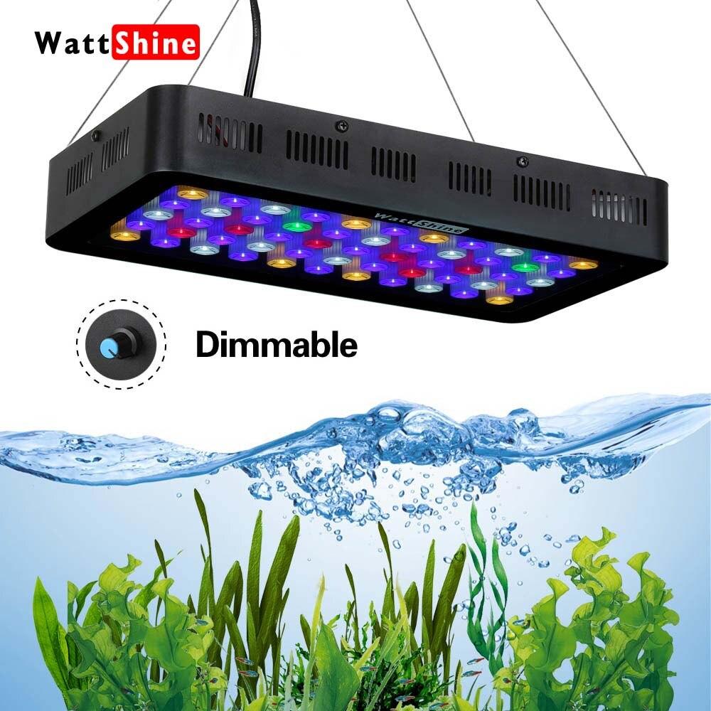 Poissons d'eau salée aquarium Lampe led aquarium Dimmable led élèvent la lumière 165 w 180 w Marine Fish tank Aquarium récif Manuel contrôle