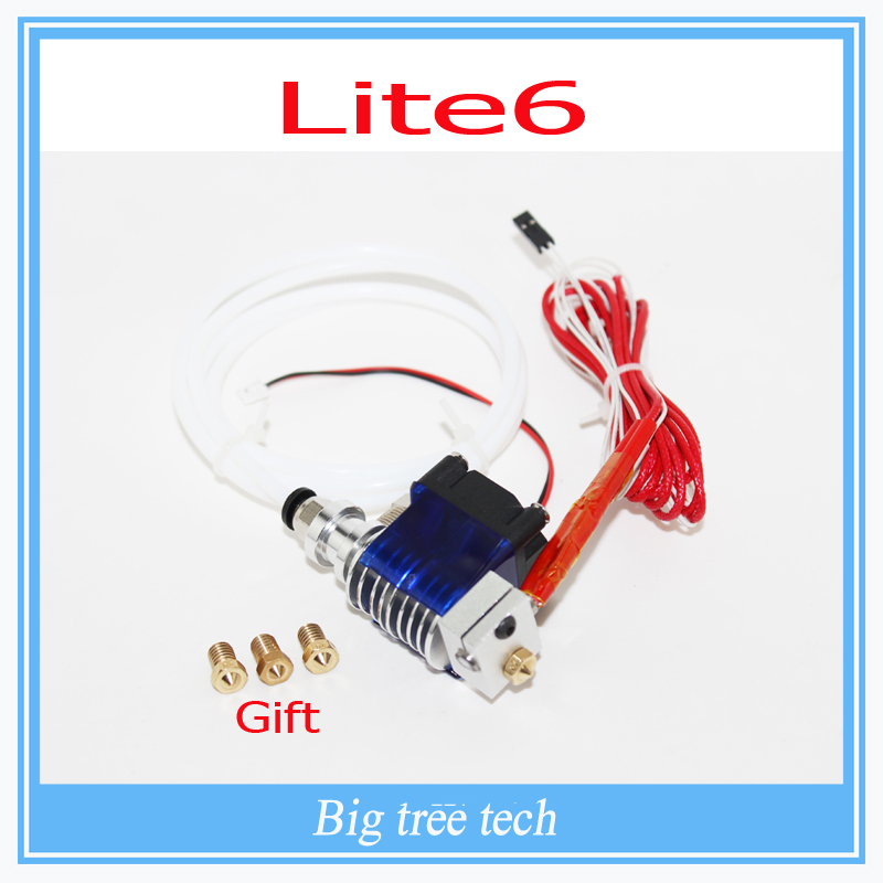 3D printer Lite6 Full Kit - 1.75mm Universal with Bowden add-on 12v/1.75mm/ 0.3mm/0.4mm/0.5mm remote Filament extruder nozzle