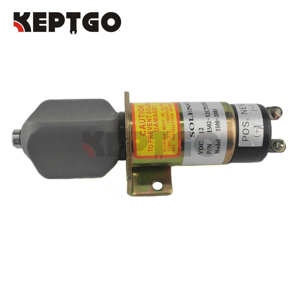12V Fuel Shutoff Stop Solenoid Valve 1502 12C7U1B1S1A 1500 2085 For Woodward 2 Terminals