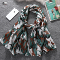 New 2016 fashion hot sale camouflage print voile woman scarf long square lady shawls women sun protection shawl wrap scarves
