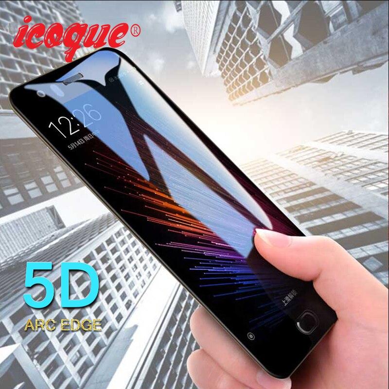 Icoque 5D Glass For Xiaomi Mi 6 Mi6 Tempered Glass Full Cover Film Case Protective Glass For Xiaomi Mi6 Mi 6 Screen Protector 9H
