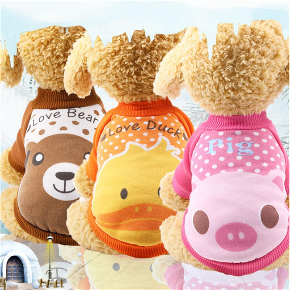 Cartoon Pet Dog Hoodie Coat Winter Dog Clothes For Small Dogs Cats Puppy Suit Chihuahua Yorkies Sweatshirt Dogs Pets Clothing