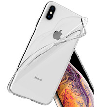 SUREHIN case for apple iPhone 6 plus 6S 8 7 plus XS MAX XR clear transparent TPU soft protective cover for iphone 6s plus case стоимость