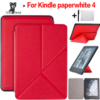 Voor 2018 Amazon Kindle Paperwhite 4 Cover Ultra Slim Case voor Nieuwe Paperwhite 6 inch Origami Shell met Auto Wake /slaap + Gift