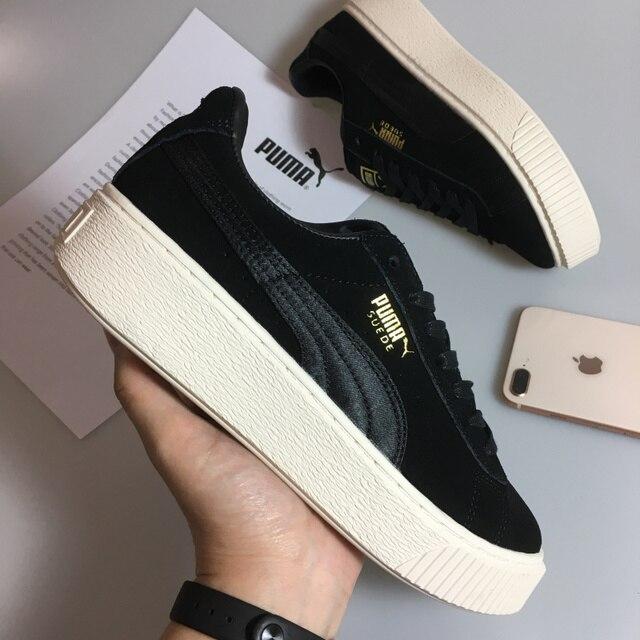 d42b7e5d66a8 20182018 New PUMA Women s Suede Mono Satin Platform Rihanna classic color  tone simple Badminton Shoes Size 36-39