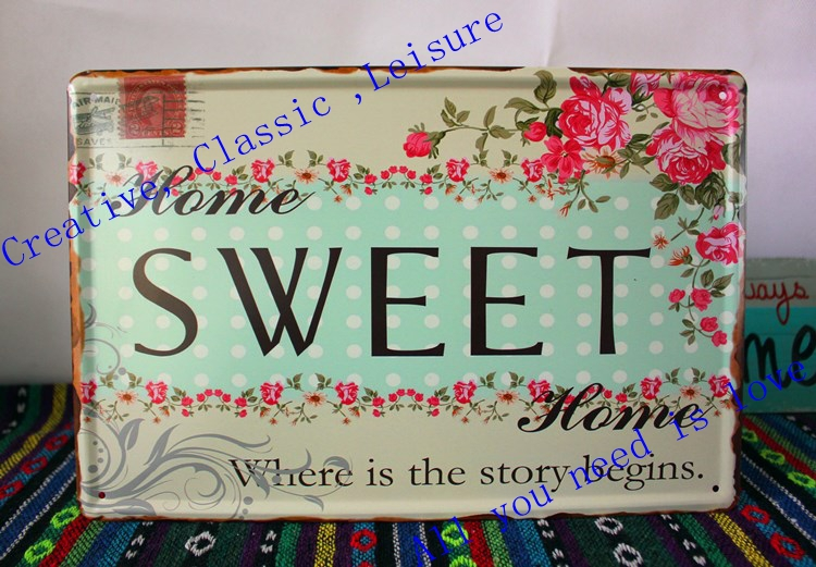 Free Shipping Rustic Home Decor Home Sweet Home Print On