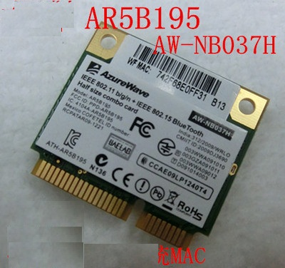 SSEA Nouvelle Carte Réseau pour Atheros AR5B195 AR9002 AW-NB037H Demi Mini PCI-e Wifi BlueTooth3.0 Sans Fil Carte 150 Mbps