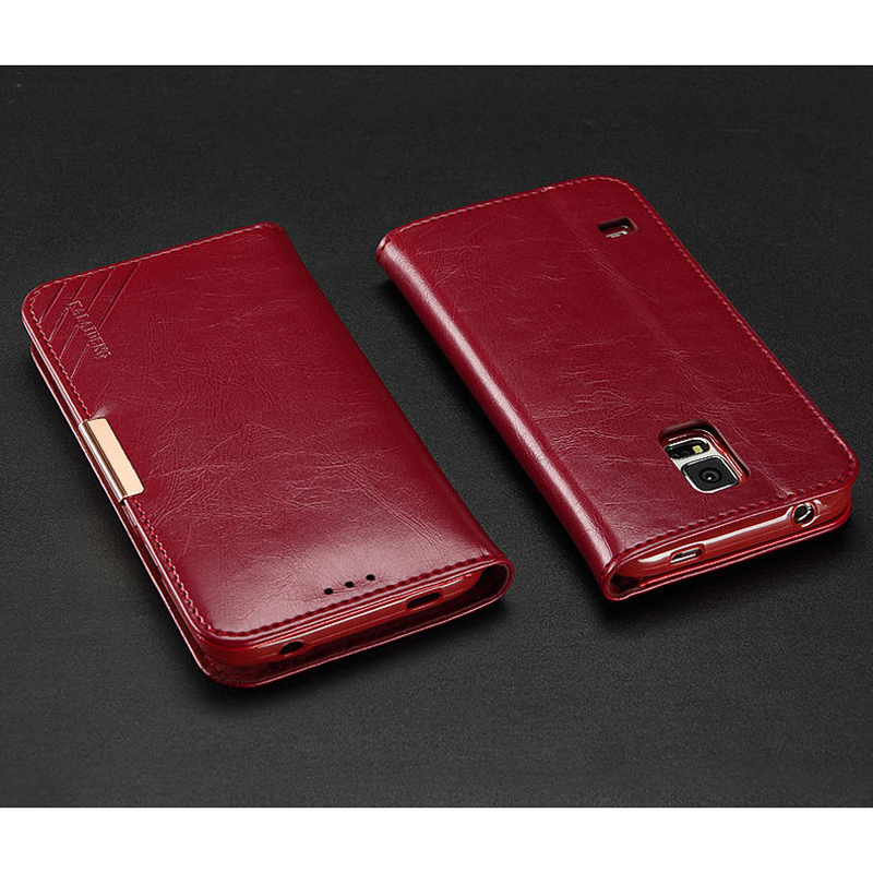 bilder für Für Samsung Galaxy S S5 5 Fall KLD Echtem Leder Rindsleder Magnet Ständer Flip tasche Geldbörse Tasche Für Samsung Galaxy S5 Neo