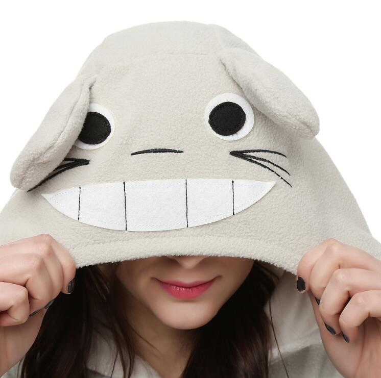 Image 5 - HKSNG On Sale Winter Totoro Eeyore Donkey Kigu Onesies Animal Pajamas Hooded Cosplay Costume Homewear Kigucosplay costumecostume cosplaypikachu pajamas costume -