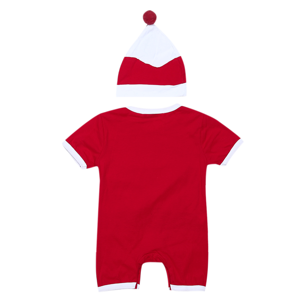 4326c8f6e Newborn Christmas Clothes Baby Boys Girls Short Sleeve Santa Clause Romper+ Hat  Outfits Kids Festival Party Costume-in Rompers from Mother & Kids on ...