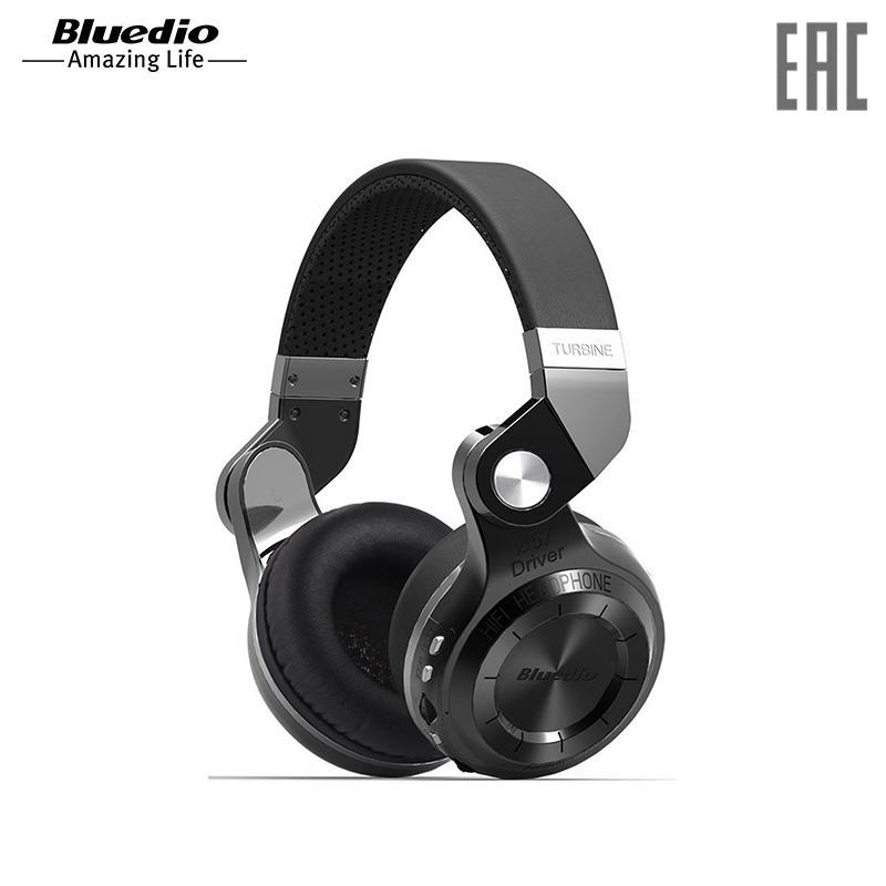 Headphones Bluedio T2+ wireless orignal bluedio t2 foldable over the ear bluetooth headphones bt 4 1 fm radio