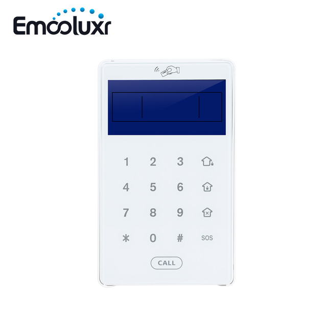 US $34 85 8% OFF|Two Way Code Keypad PB 503R Temper Glass Touchscreen Door  Keyboard for 868MHz TCP IP WIFI Alarm System Wireless ST VGT, ST IIIGW-in