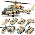 679 unids Helicóptero 8 En 1 Militar Del Ejército Guerra Modelo Building Blocks Set Equipo Del Ejército de Ladrillos Juguetes Compatible Legoe Gudi 8007