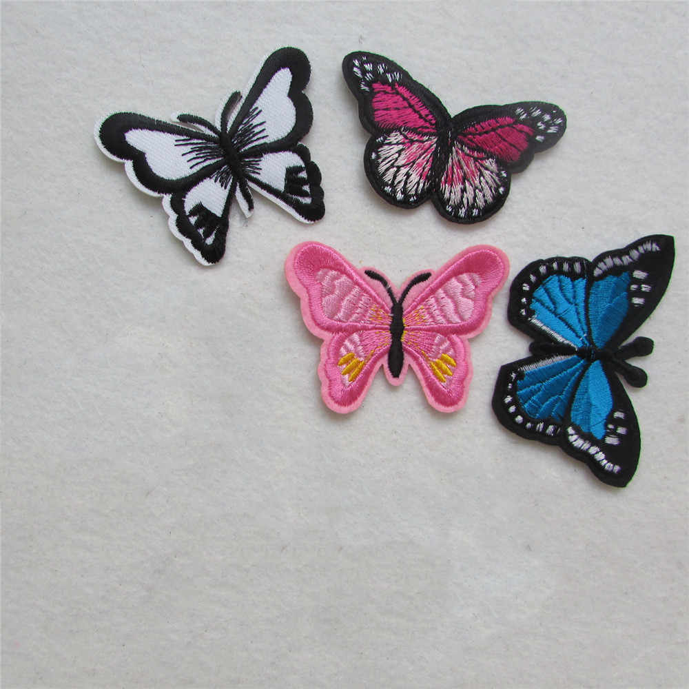 2016 year fashion butterfly patterend new arrive hot melt adhesive applique embroidery patches stripes DIY accessory C2170-C5142