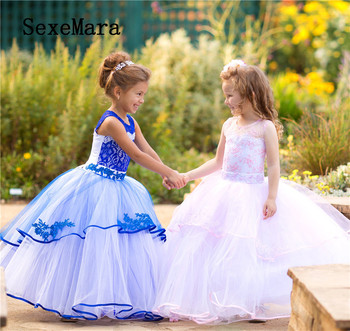 Gorgeous Royal Blue Glitz Pageant Dresses Mother Daughter Gowns Flower Girl Dresses For Wedding Kids Evening Dress Custom Made