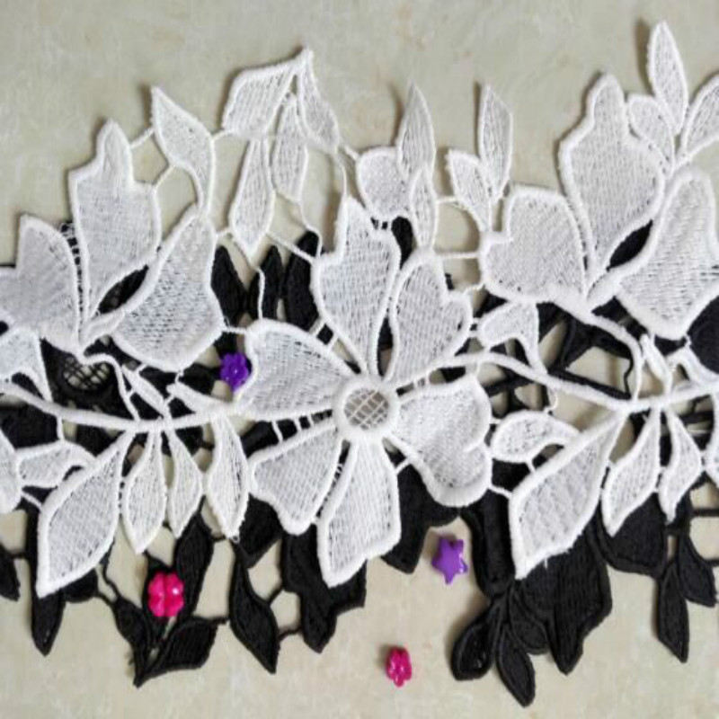 Flower Lace Trim Fabric Water Soluble Ribbon For Sewing Bridal Wedding Dress Crafts