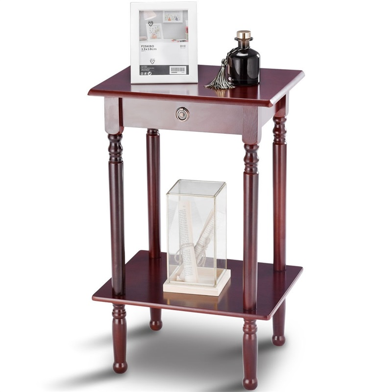 Simple Design Elegant Tall Telephone Stand Side Shelf Table Solid