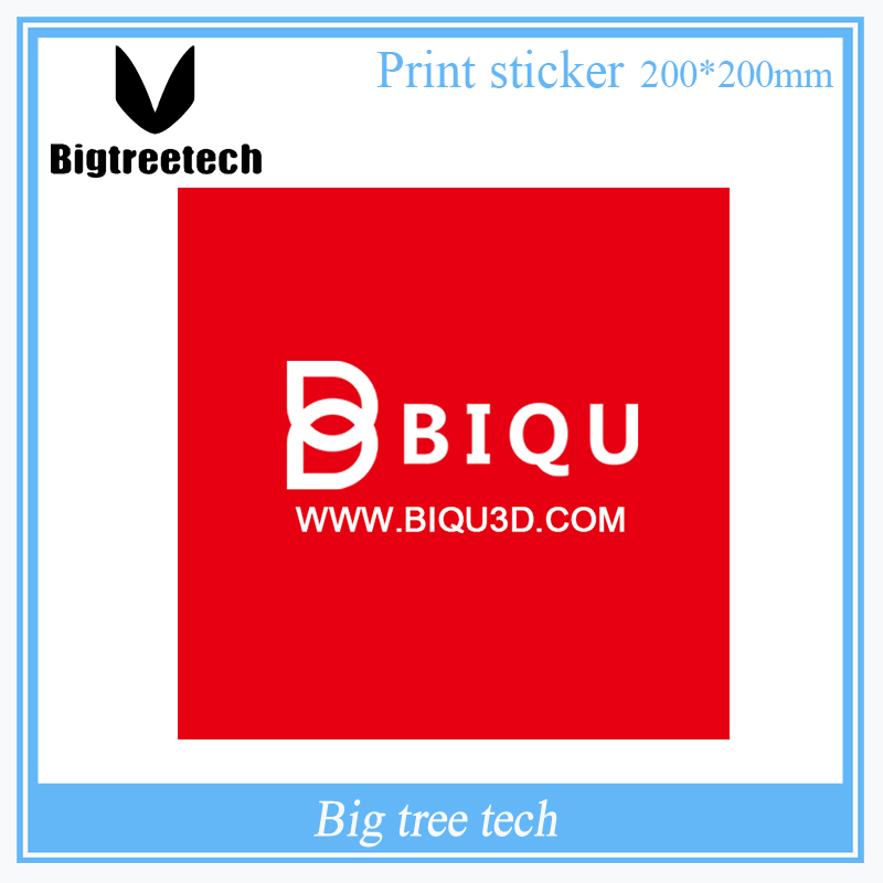 BIQU 1PC 200*200MM 3D Printer Accessories Red Painter Print Bed Tape Print Sticker Build Plate Tape