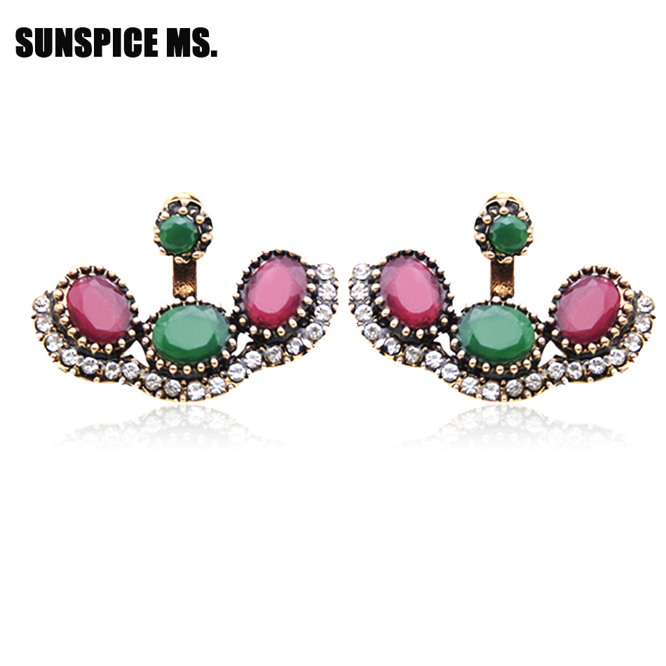 Vintage Turki Anting Antik Perhiasan Emas Plating Panjang Disesuaikan 2 Sets Festival Turki Menjuntai Drop Earring Wanita India