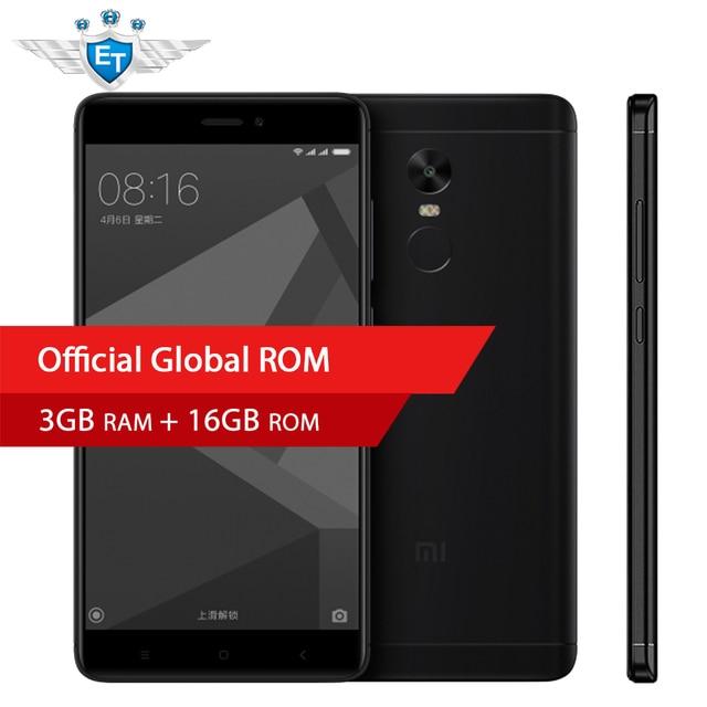 """Оригинальный Xiaomi Redmi Note 4X Смартфон Snapdragon 625 Octa Core 5.5 """"FHD 3 ГБ Оперативная память 16 ГБ Встроенная память 13.0MP камера отпечатков пальцев ID MIUI 9"""