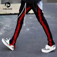 Man 2018 New pants hiphop Fashion jogger urban clothing red bottoms FOG jogger justin bieber Fear Of God zipper Pants