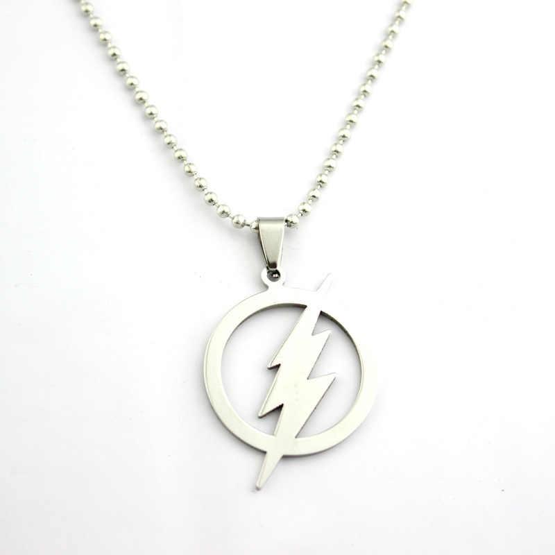Флэш супер герой флэш молния логотип из нержавеющей стали цепи ожерелья и подвески для мужчин женщин подарок Фигурки игрушки для косплея