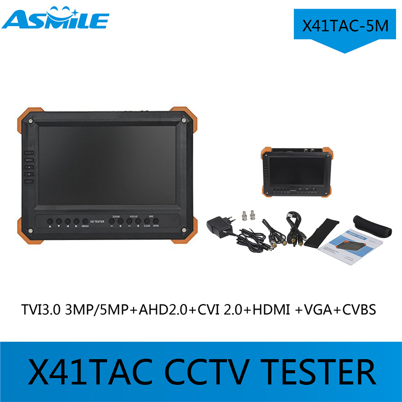 multi-function cctv tester with X41TAC-5M 7TFT LCD HD-TVI3.0+AHD2.0+CVI+HDMI+VGA+CVBS Camera Video Test Tester for X41TAC-5M