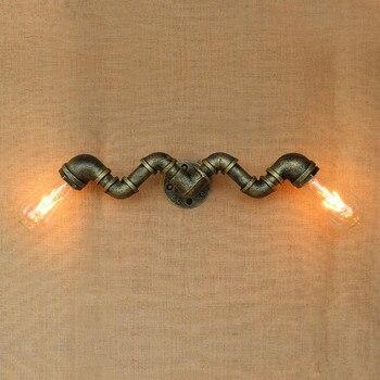 IWHD fer conduite d'eau Loft mur LED lampe RH rétro industriel Vintage applique murale luminaires de chevet éclairage de maison Luminaire d'intérieur