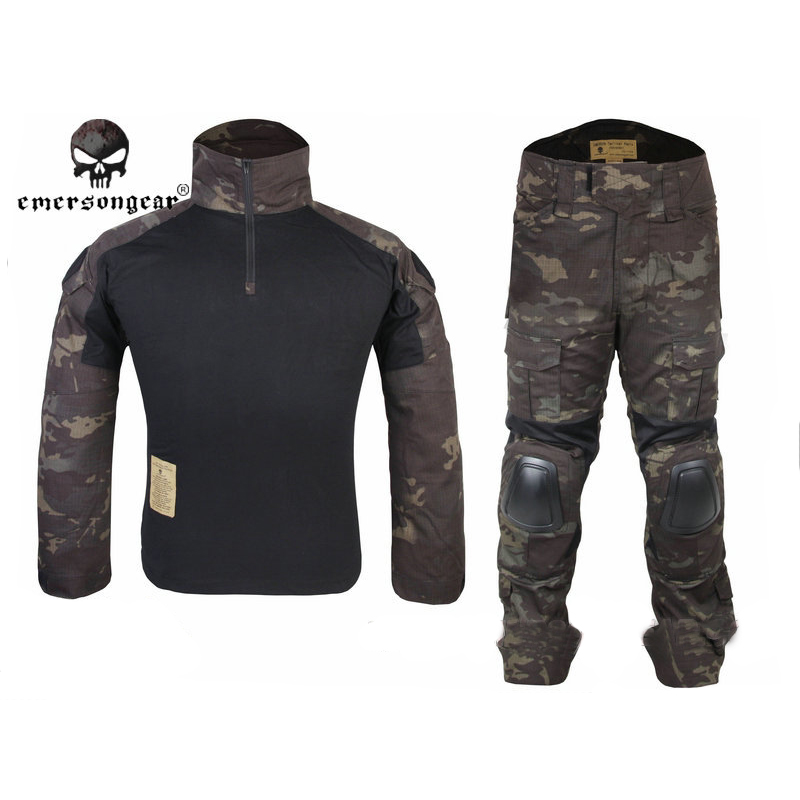 Emerson Gen2 Combat Shirt&Pants with Elbow Knee Pads Tactical Gear Hunting Uniform Camouflage Military Tactical Suits MCBK military uniform multicam army combat shirt uniform tactical pants with knee pads camouflage suit hunting clothes