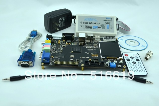 Free shipping FPGA development board ALTERA CycloneIV Video NIOS Image DDR color VGA audio  EP4CE30