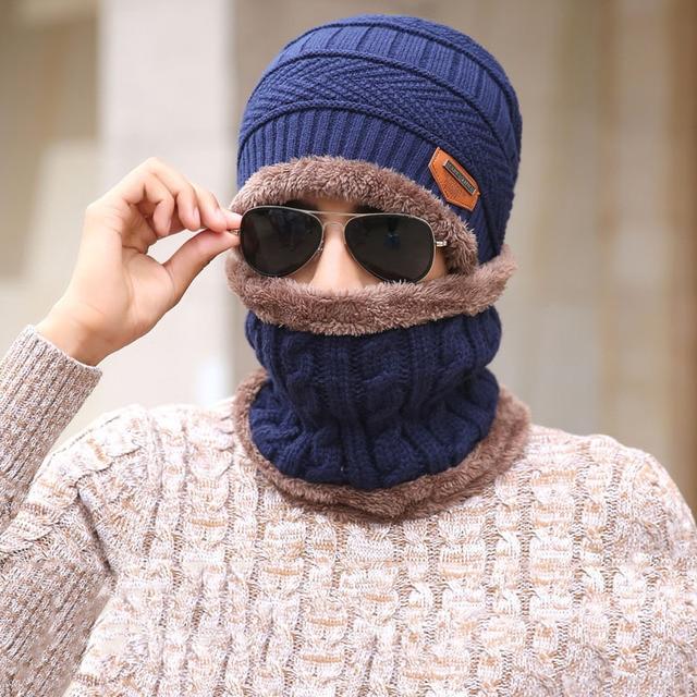 e6afa6ab343 Winter Unisex Knitted Hats Fashion Beanies Cashmere Wool Scarf Hats Women  Men Ski Skull Caps Bonnet Gorro Warm Baggy Bouncy