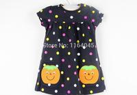 D1-002,Fashion, New Style, Baby Girls Dresses with Dot, Stripe, Printed, Super Quality, Free Shipping