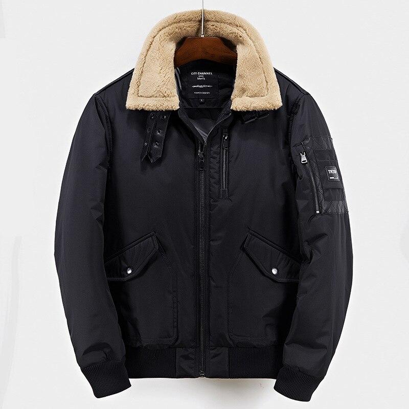 Brand Navy Parka Men 2017 Winter Jacket Men Fashion Design Big Fur Hooded Men's Down Jacket Coat male Manteau Homme Hiver