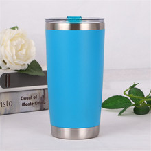 600ml/20oz Stainless Steel Tumbler Vacuum Double Wall Insulation Travel Mug Cold Preservation Coffee Cup
