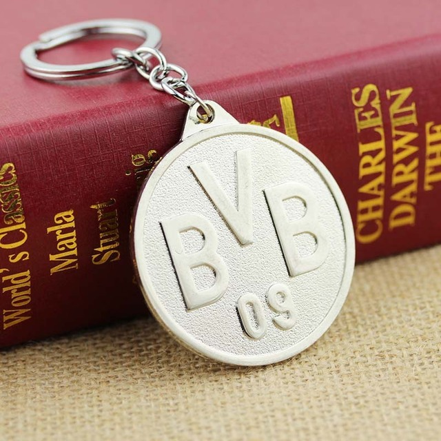 New Arrival BVB Key Chain Ballspiel-Verein Borussia1909 BVB metal key ring football souvenir Borussia soccer keychain