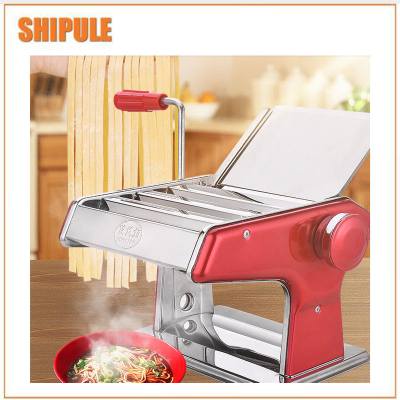Stainless Steel Handle Pasta Maker Noodle Press Machine Adjustable Thickness Manual Pressing Machine