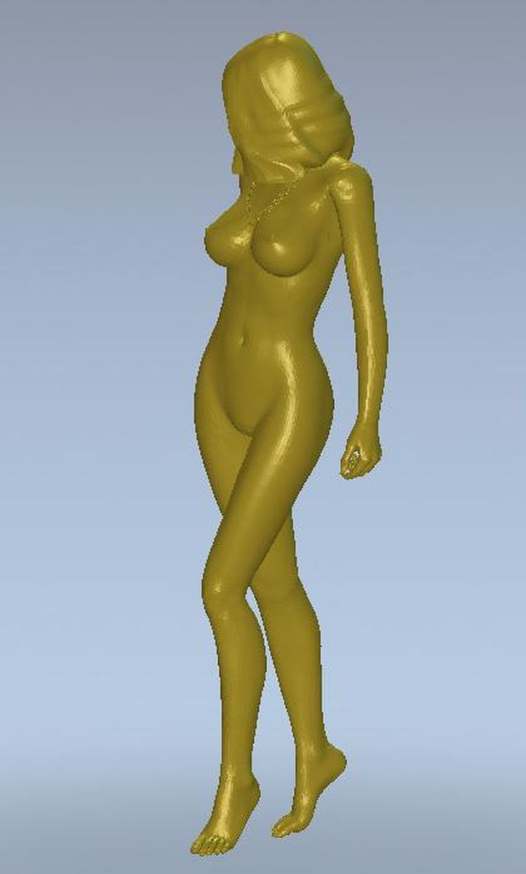 3d model relief for cnc or 3D printers in STL file format Naked nude girl on the move--9 relief for cnc in stl file format 3d panno herd model