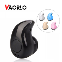 Vaorlo fone de ouvido sem fio bluetooth fone earbud com microfone mini invisível esporte estéreo bluetooth s530 para xiaomi telefone
