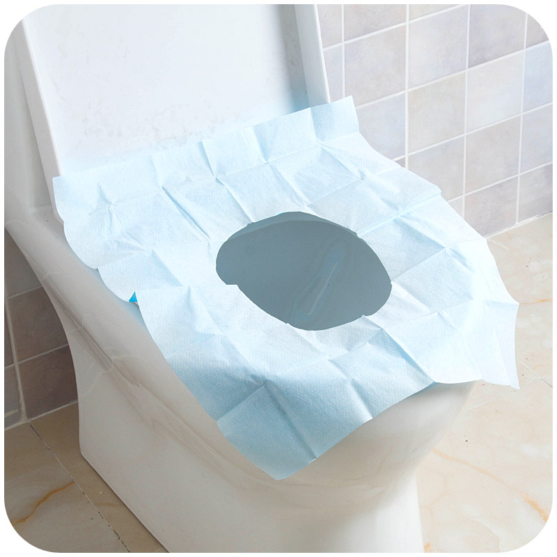 Travel healthy Wood PE Paper Toilet Soft Cover Pocket In WC One Time Use Hotel Bathroom Pad Paper