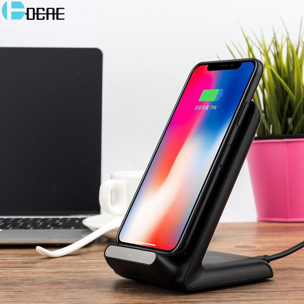 DCAE Qi Wireless Charger For iPhone Xr X 8 Xs Max Samsung